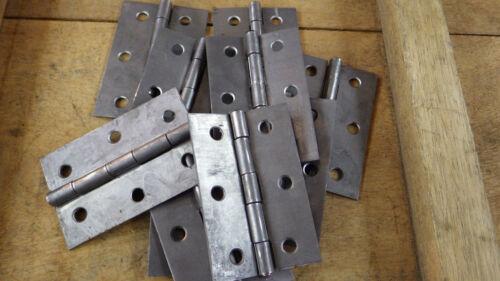 "5 PAIRS 3/"" 75mm STEEL LIGHTWEIGHT SELF COLOUR BUTT HINGES  DOOR GATE HUTCH BOX"