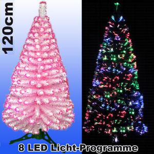 Tannenbaum Weiss Led.Details Zu Led Weihnachtsbaum Weiss Pink Rosa 120 Cm Tannenbaum Farbwechselnd Glasfaser