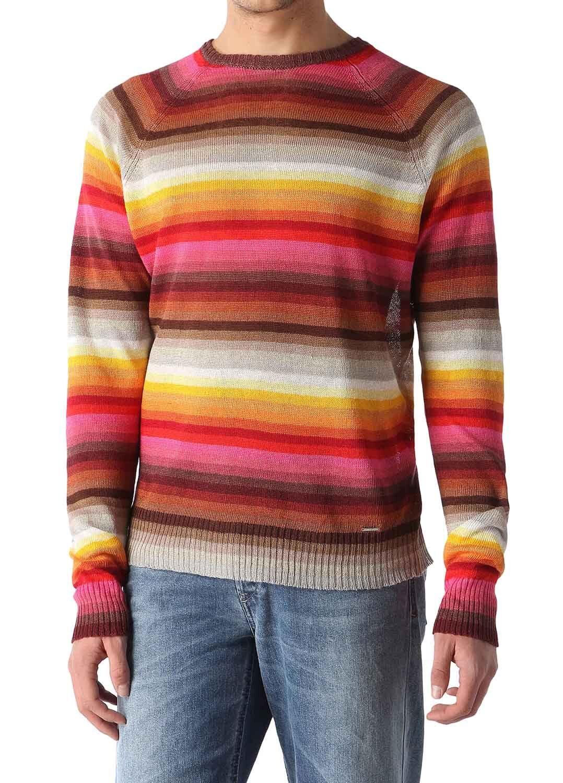 Diesel K-Farbeys Pullover Herren Leinen