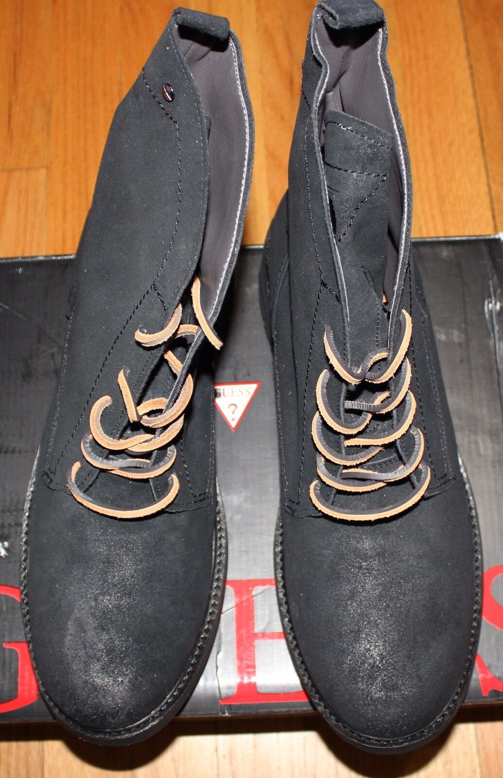 150 GUESS REMMY BLACK SUEDE HIGH TOP SNEAKER SZ 11M