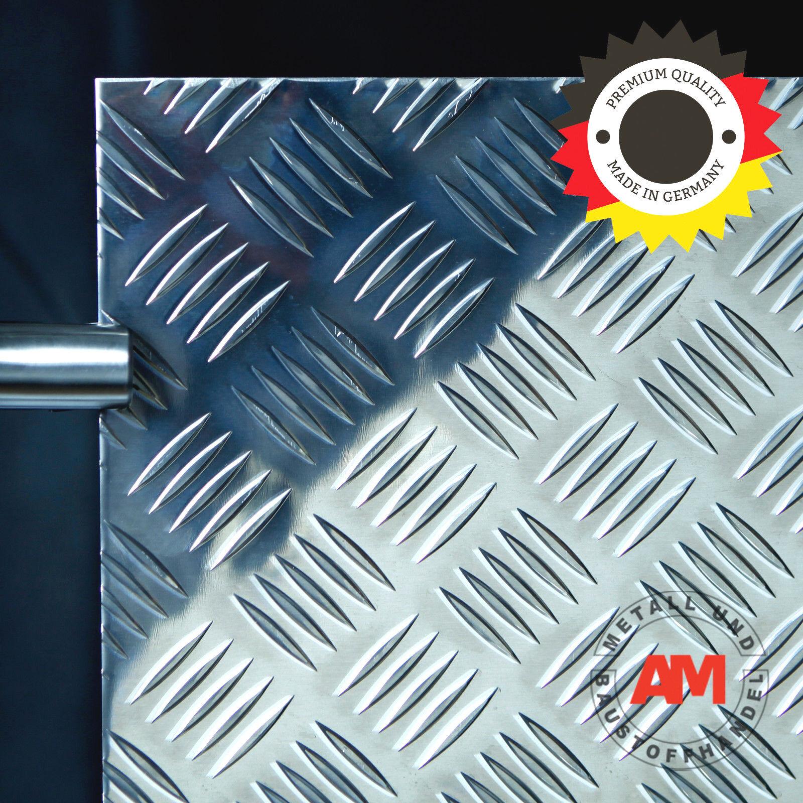 Alu Strukturblech 1000 x 1000 x 3,5 5,0mm QUINTETT Riffelblech Warzenblech Boden