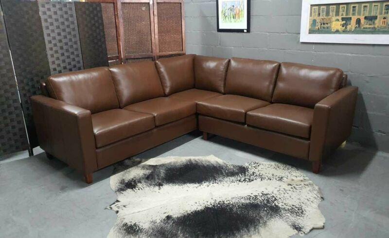 STYLISH Genuine Leather Modern MADISON Corner unit, Brand new and Available, 082 624 5168