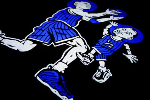 New Anfernee Penny hardaway shirt blue foamposite royal stripes  Cajmear Memphis