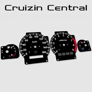 Plastic BLACK DIALS for Stagea Series 2 gauge speedo tacho dial cluster