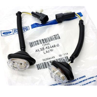2 NEW L /& R OEM Ford F150 SVT Raptor Front Bumper Side Marker Light Bulb Lamp