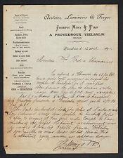 """PROVEDROUX / VIELSALM (BELGIQUE) ACIERIE LAMINOIR FORGE """"Joseph MINY"""" en 1892"""