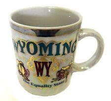 Lipco Iridescent Wyoming Mug WY Equality State Boots Souvenir Cup Collectible