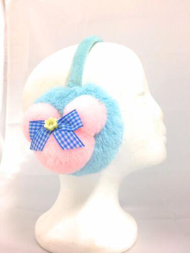 Nouveau Mignon Lapin cache-oreilles enfants filles hiver Peluche Moelleux Nœud Style Ear Warmer Neuf avec étiquettes