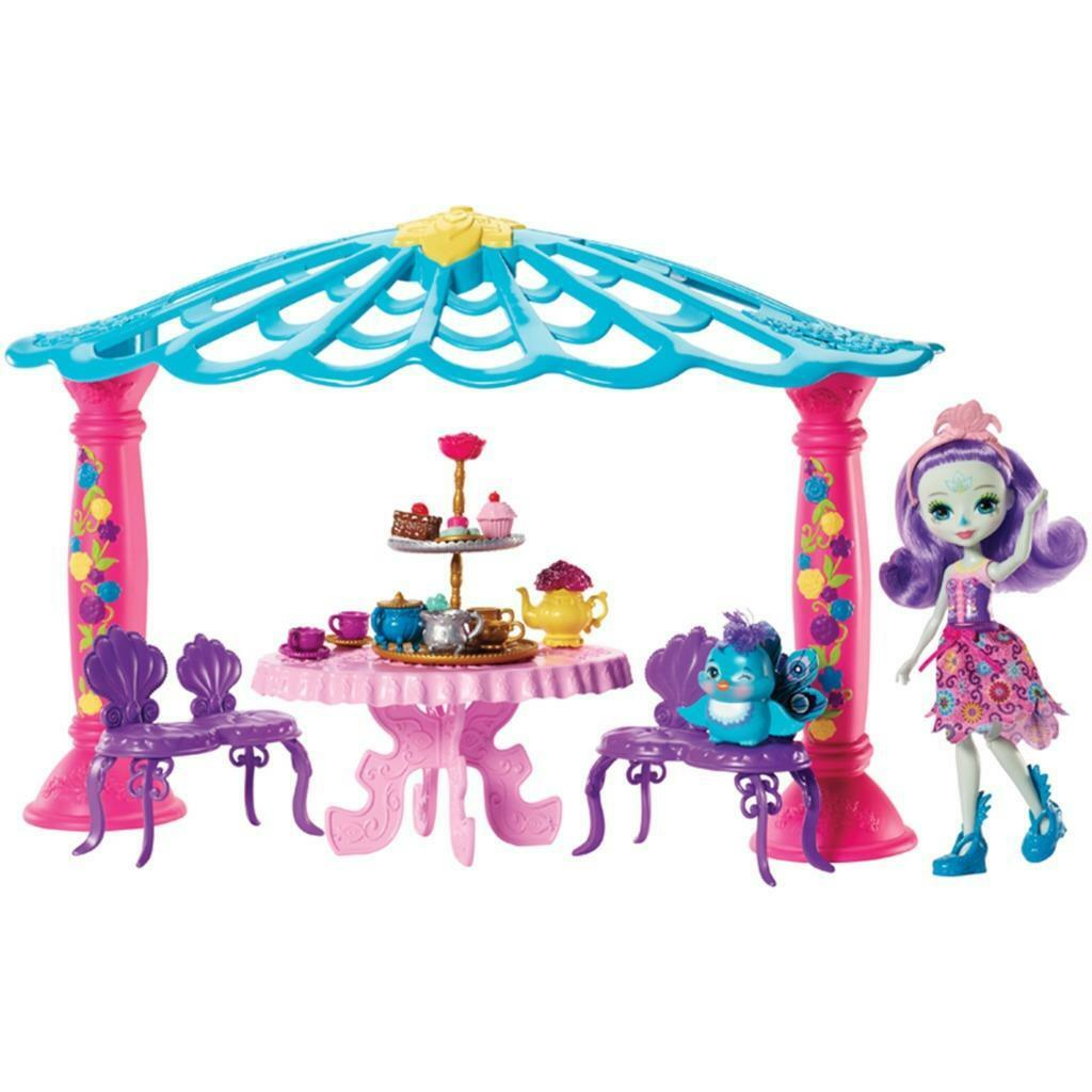Enchantimals Pavone Gazebo con Pavone Bambola & Animale Domestico
