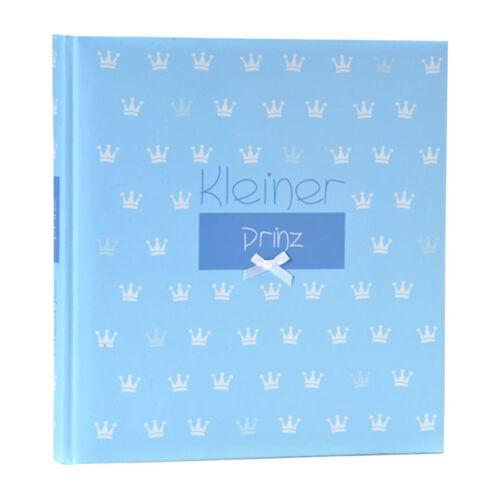 Prinz Fotoalbum in Blau 29x31 cm 60 Seiten Kinder Baby Buch Album