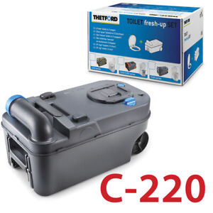 THETFORD-FRESH-UP-SET-C220-CASSETTE-CAMPING-ABWASSER-FAKALIENTANK-TOILETTE-220