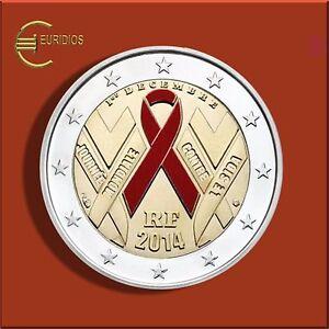 2-Euro-Gedenkmuenze-Frankreich-2014-034-Welt-Aids-Tag-034-coloriert-aus-Coin-Card