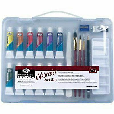 Art Advantage ART-3012VP 12 Color Watercolor Compact Paint Set with Palette