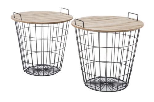 Geometrischer Tisch Kaffeetisch Couchtisch Rund Holz Oval Nachttisch Metall SET