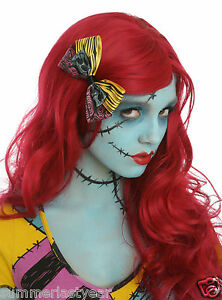 The Nightmare Before Christmas Sally Rag Doll Wig & Hair Bow For ...