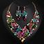 Fashion-Boho-Crystal-Pendant-Choker-Chain-Statement-Necklace-Earrings-Jewelry thumbnail 78
