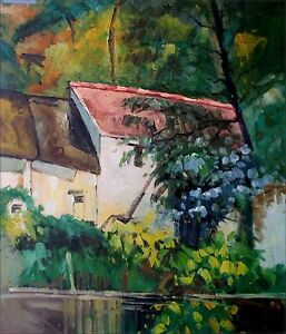Quality-Hand-Painted-Oil-Painting-Repro-Paul-Cezanne-House-of-Lacroix-20x24in
