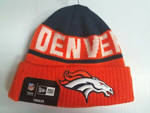new product 99339 da672 Image is loading TODDLER-Denver-Broncos-New-Era-Knit-Hat-JR-