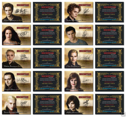 New Moon Inscription Series Your Choice from Available cards Twilight