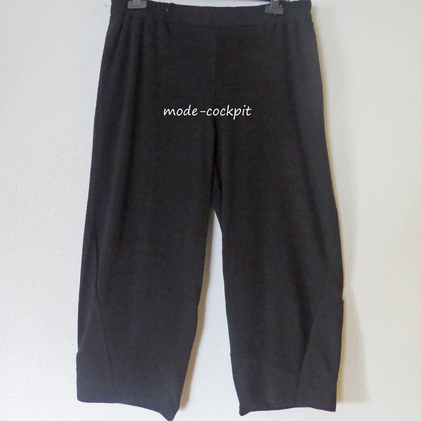 LUUKAA weite Kuschel Hose Stiefelhose + Taschen Lagenlook black 48-50 (6)