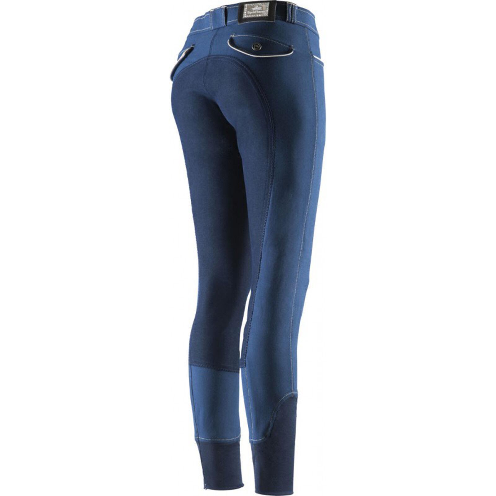 Equi Theme Damen Reithose Verona Vollbesatz marineblau marineblau marineblau 6faef1