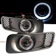 White LED DRL Halo Angel Eyes Projector Fog Lights Lamps Kit Fits 99-00 Civic