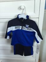 Red Star Jogging Suit. Brand New. 12 Mos. Athletic Outfit