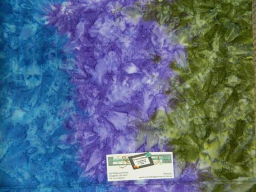 Patchwork Quilting Fabric BATIK GREEN PURPLE BLUE NEW Material Cotton FQ 50X55cm