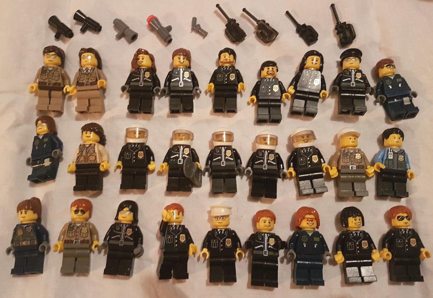 Lego Minifigures Bundle of 27 policemen officers mini figures  job lot ,lot8