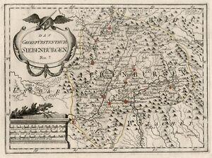 Transilvania Romania Cartina.Romania Transilvania Originale Incisione Cartina Geografica Reilly 1789 Ebay