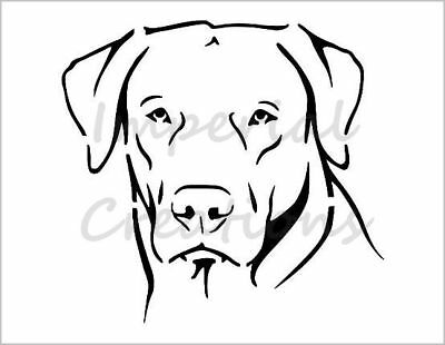 350 micron Mylar not Hobby stuff #DOGS077 LABRADOR RETRIEVER Dog Stencil