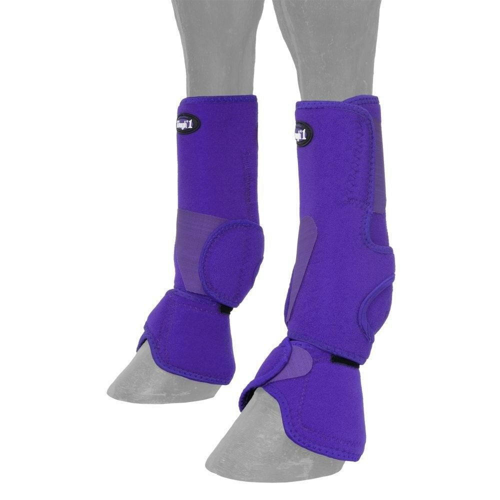 Performers 1st Choice Air-Flow Combo Sport and Bell Boots Medium Purple