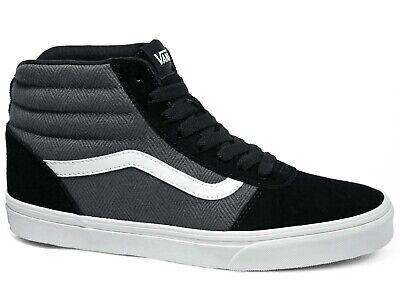 Details zu Vans Ward Hi Herringbone Suede Sneakers Black Pewter Schwarz Grau VN0A38DN9VT1