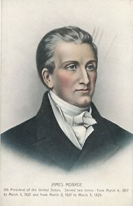05c62d2d863ef Image is loading 1821-1825-President-James-Monroe-Portrait-Postcard-Hugh-