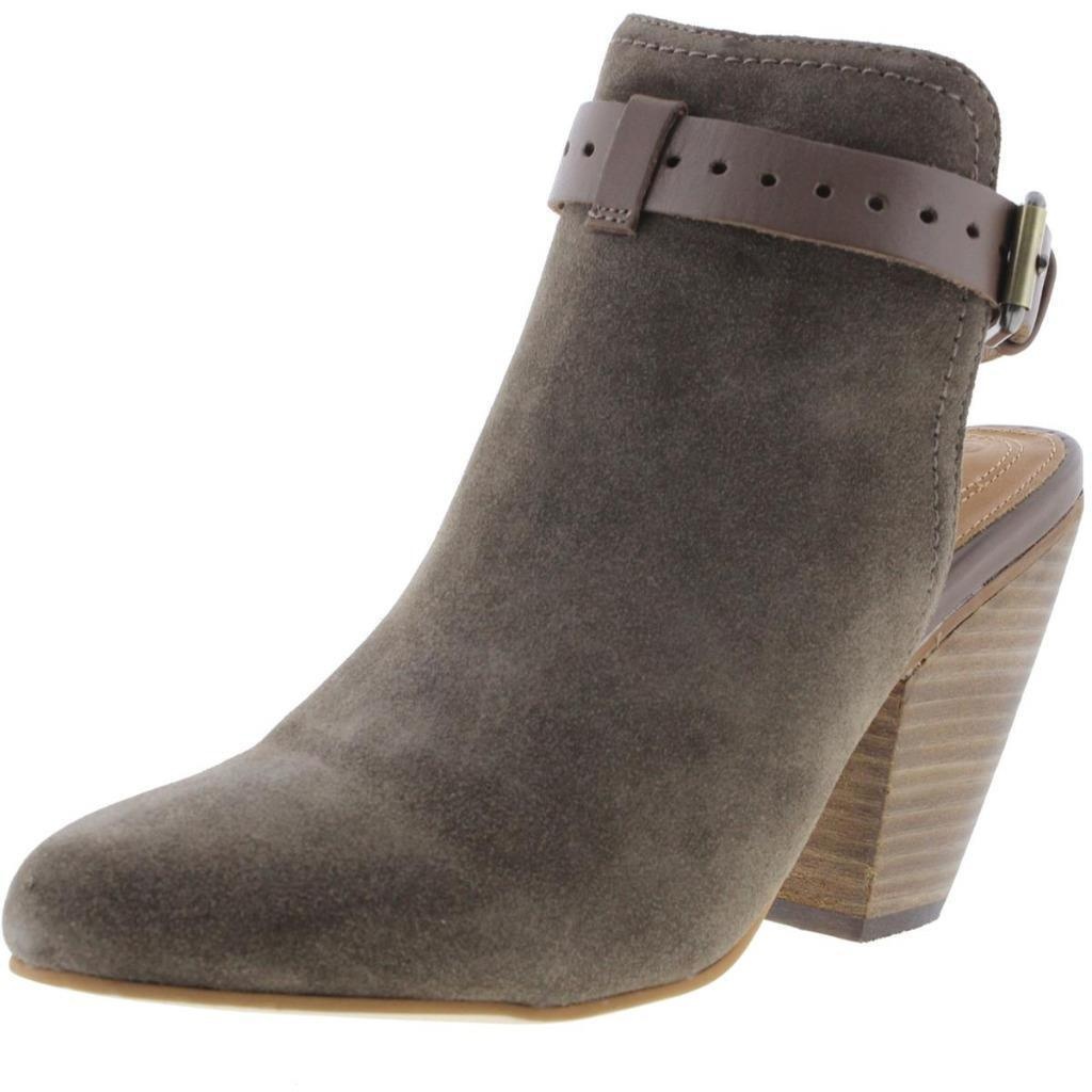 CORSO COMO $189 STOWE Taupe Leather 10 Buckle Booties ANKLE BOOTS 10 Leather M NWT ad4033