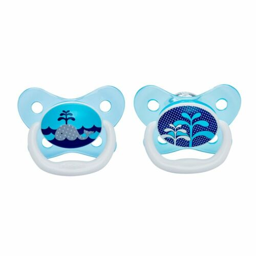 Dr Brown/'s PreVent Soother Blue 0-6 months 2 Pack DBPV12402