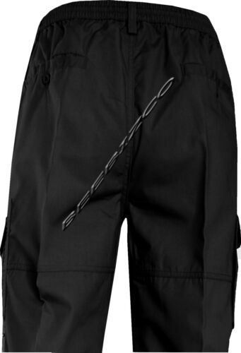 New Mens Elasticated Waist Rugby Trousers Zip Off 3//4 shorts Cargo Combat M-3XL