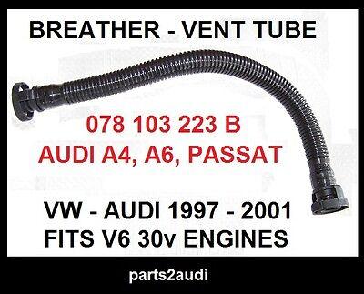 BREATHER VENT HOSE BREATHER TUBE VENT TUBE 078103223B 06F103221E NEW FOR Audi A6 Quattro A4 Quattro Volkswagen Passat 2.8L 1996 1997 1998 1999 2000 2001 2002