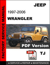 jeep wrangler tj 1997 2006 2005 2004 2003 service repair manual rh ebay com Auto Repair Manual Clymer Manuals