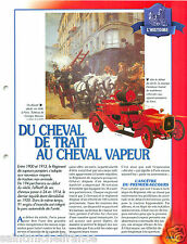Cheval Trait Traction Delahaye Laffly Regiment Sapeur Pompier FICHE FIREFIGHTER