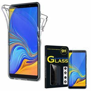Coque-Silicone-Gel-protection-360-Verre-Trempe-Samsung-Galaxy-A7-2018-6-0-034