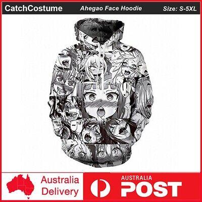 Ahegao Face Anime 3D Printing Men Women Sweatshirt Pullover Jumper Hoodie Tops