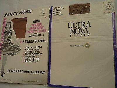 Collant Calze Vintage Collant Bundle Beige Petite Super 7 Ultra Nova Grigio Talpa-mostra Il Titolo Originale