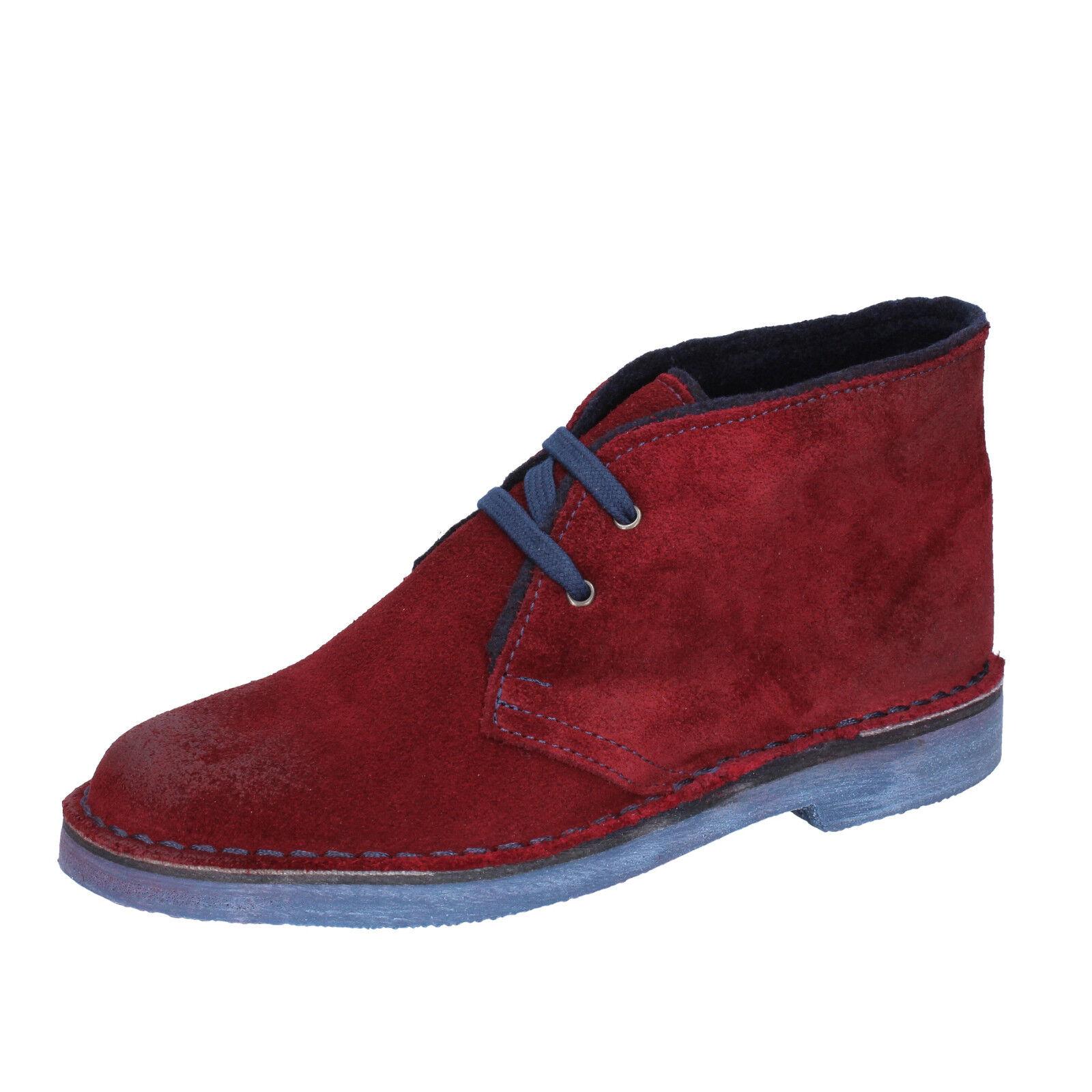 Damen schuhe MISS 20 BY CORAF 38 EU desert boots burgund wildleder BX663-38