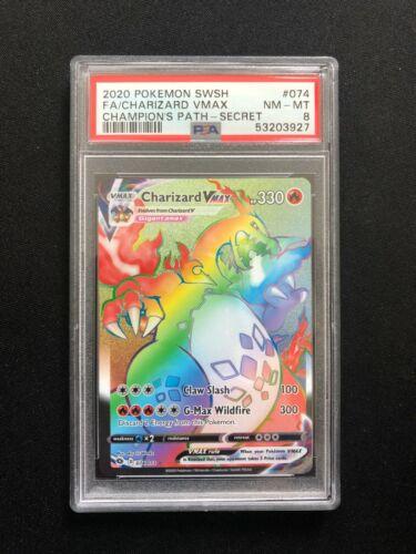 Charizard VMAX 074 Full Art Secret Rare Champion's Path PSA 8 Near Mint - Mint
