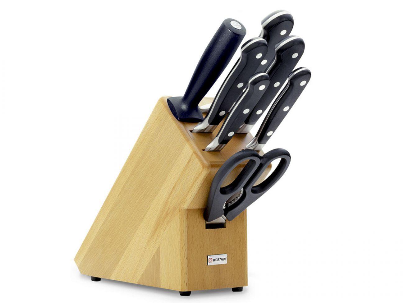 Wüsthof Classic Ikon 9875 couteau Bloc-couteau-Set Hêtre Nature 8 pièces