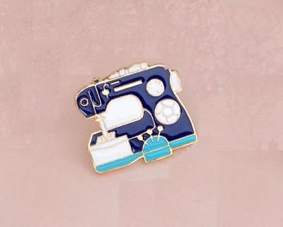 Pins & Brooches Fashion Jewelry Fashion Style émaillé Broche Ou épinglette D'un Machine à Coudre Cg1516 Good Heat Preservation