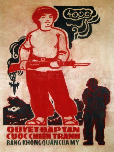 PROPAGANDA VIETNAM WAR DEFEAT AMERICAN AIR FORCE GUN POSTER ART PRINT BB2779A
