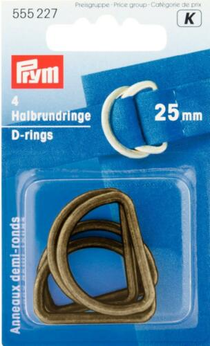 Prym   Halbrund Ringe 25 mm altmessing 4 St   555227