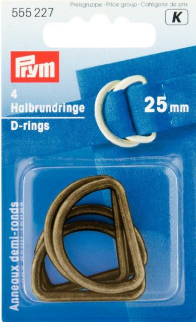 Prym Halbrundringe 25 mm altmessing 4 Stück 555227